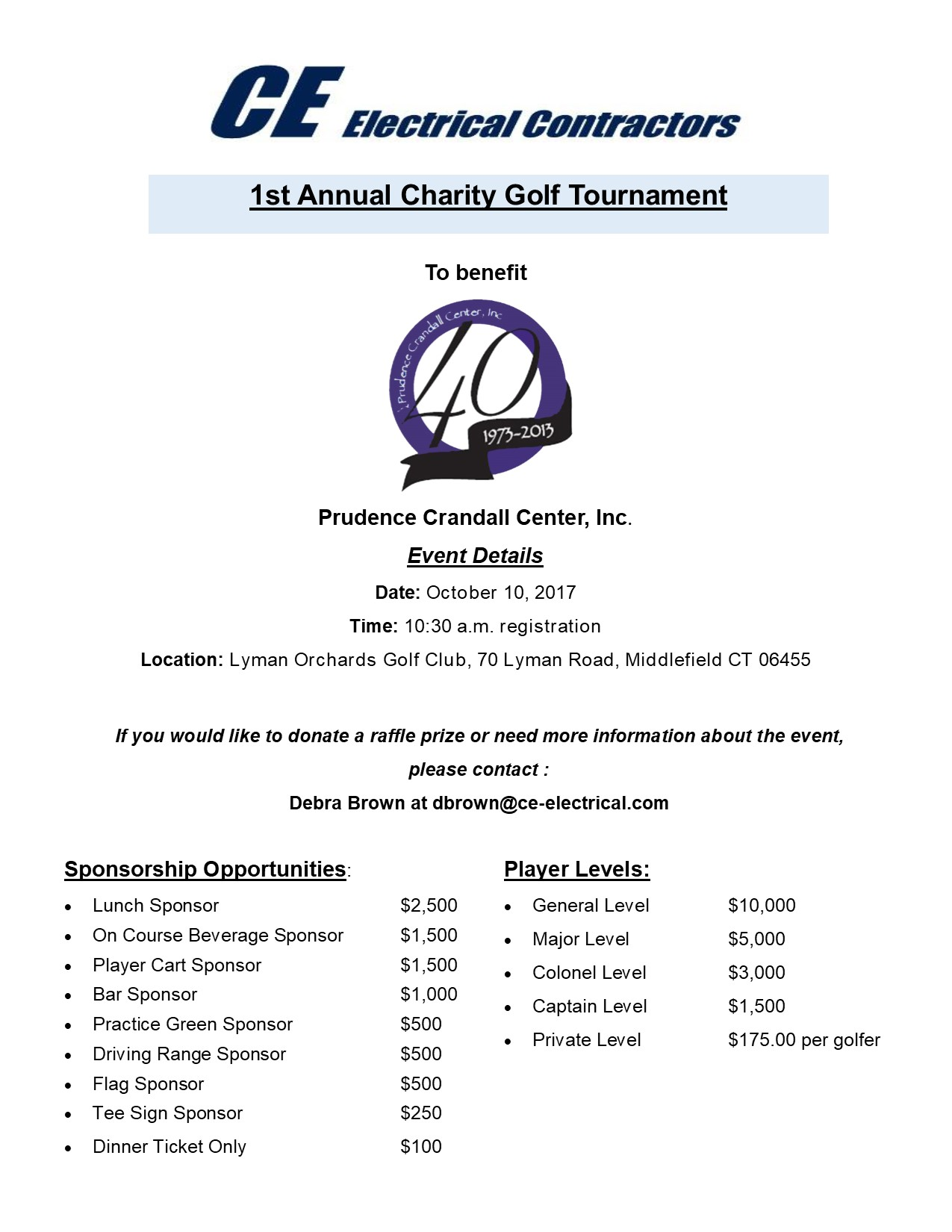 ce electric golf tournament facebook announcement flyer jpeg